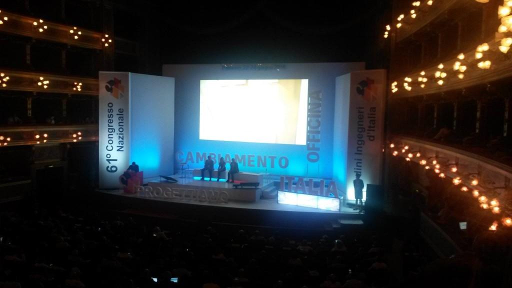 Il palco del Congresso Nazionale Ingegneri di Palermo