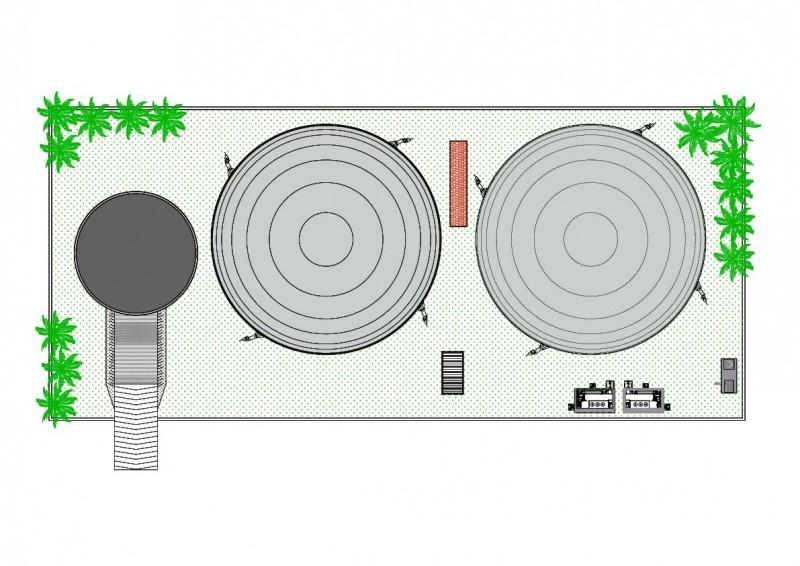 Schema dell'impianto a Biogas