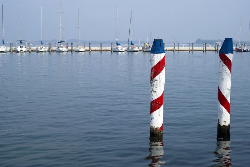 Chioggia harbour. Entrance to the Venetian Lagoon