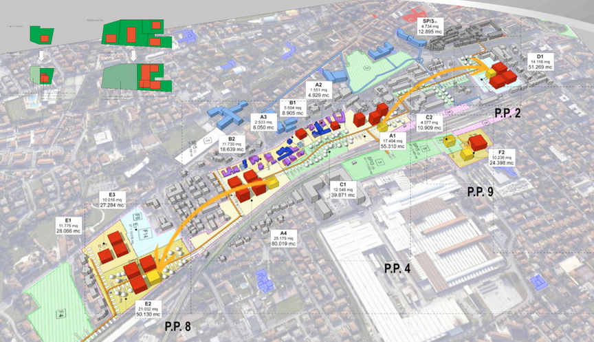 Masterplan Bassano 2020 (Arch. Antonio Guglielmini con l'Arch. Massimo Vallotto per conto del Comune di Bassano del Grappa nel 2010)