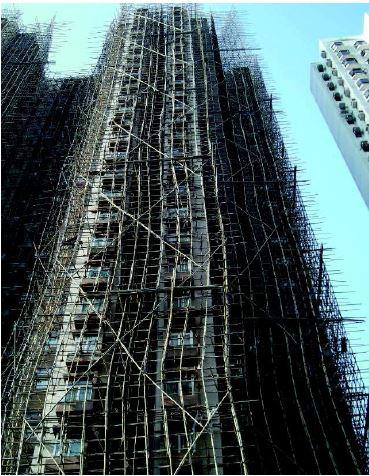 Ponteggio grattacielo in bambù, Beijing, 2013