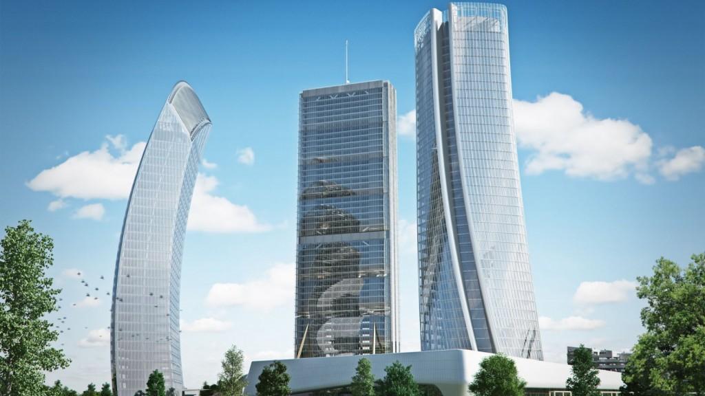 """Render del progetto """"Podium"""" (Immagine da sito Citylife)"""