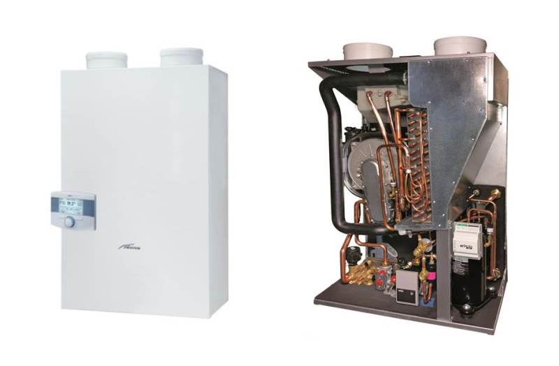 Una caldaia a condensazione a gas e una pompa di calore in un solo