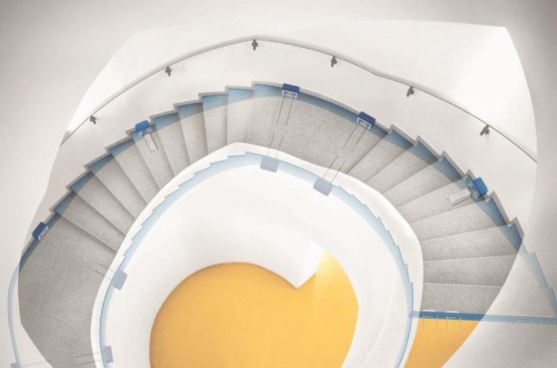 Tronsole nelle scale a chiocciola