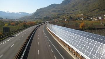 Le barriere fotovoltaiche antirumore sull'Autostrada del Brennero