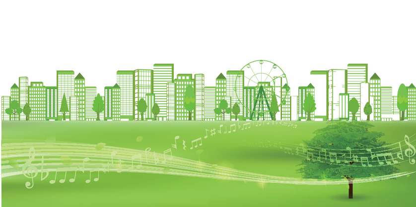 City fresh green eco background