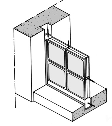Franco 7_FIG 1 a_Composizione di una lastra in vetrocemento (Disegno M. Caraffini)