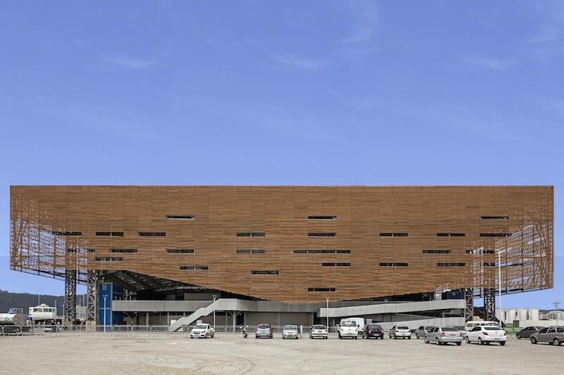 Il padiglione temporaneo del Future Arena a Rio 2016 © Leonardo Finotti