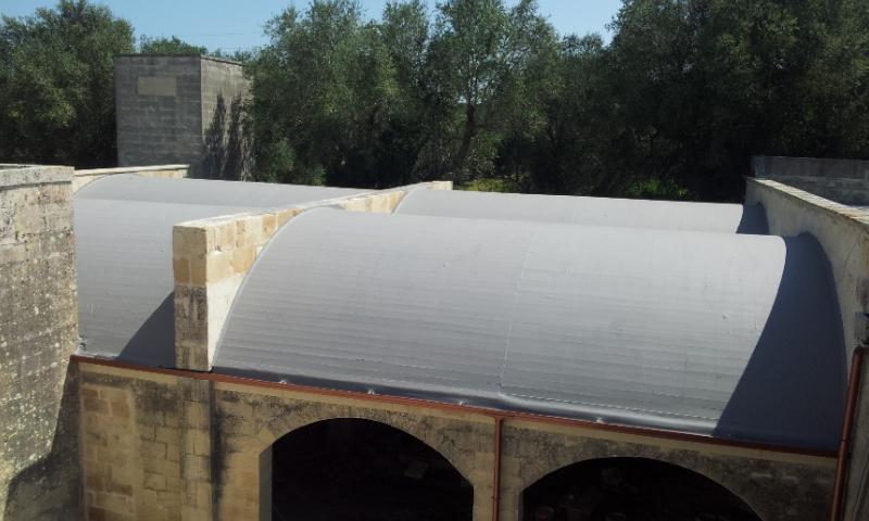 La copertura di Villa Zaira dopo l'impermeabilizzazione con Elastiflex di Berner
