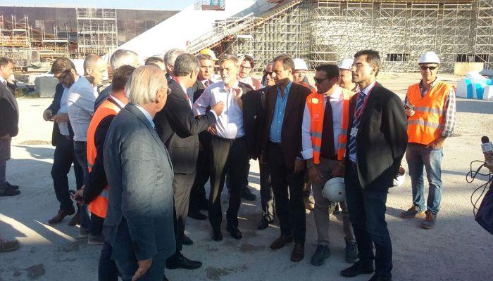 Il ministro Delrio visita il cantiere della Stazione di Afragola (C) Mit