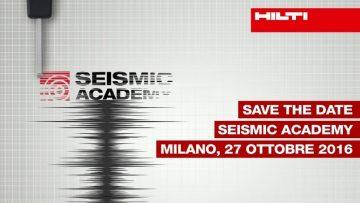 Seismic Academy 2016: tutto pronto per la IV edizione