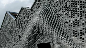 Un robot ha costruito la facciata di una galleria a Shanghai
