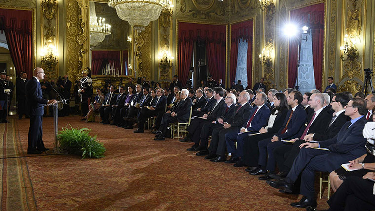 Cerimonia di premiazione degli Eni Award, alla presenza del Presidente della Repubblica, Sergio Mattarella