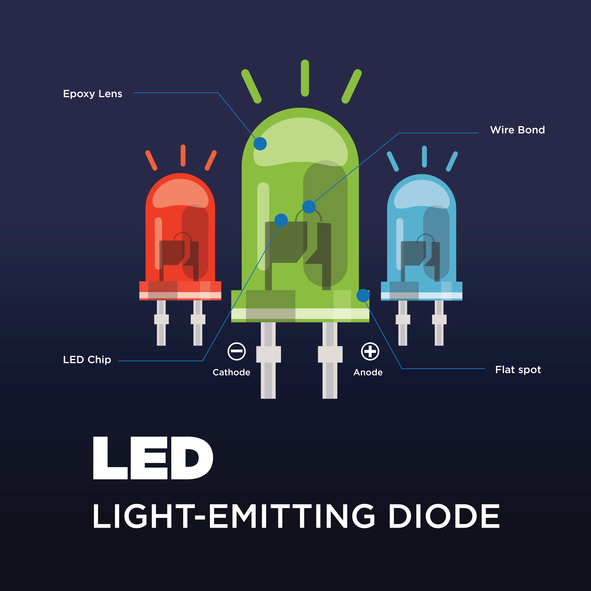 component of led - vector illustration