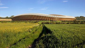 Da Zaha Hadid Architects uno stadio completamente in legno