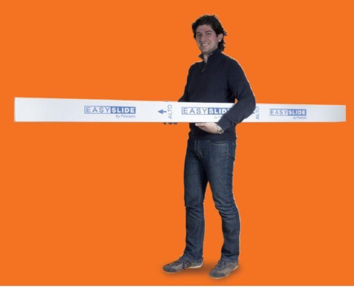 Easy Slide: confezione di dimensioni ridotte e leggera