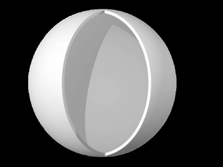 Sezione di microsfera