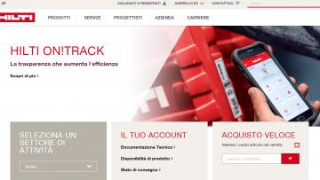 E' online il nuovo sito di Hilti, in linea con la nuova Brand Expression del marchio