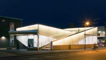 La stazione parcheggio per le biciclette a Lillestrøm