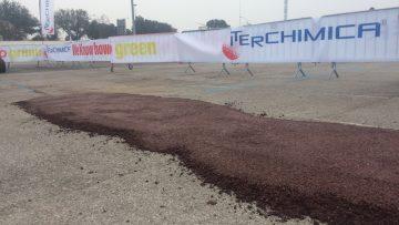 La prima strada composta da asfalto con il 100% di fresato riciclato