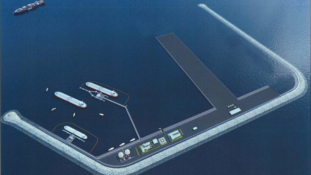 Rendering del porto