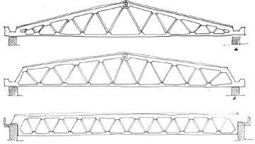 Le strutture di copertura inclinate in cemento armato