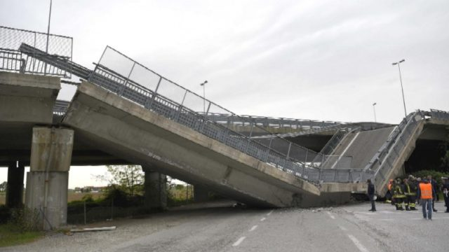Viadotto crollato a Fossano: le ipotesi preliminari degli ingegneri cuneesi
