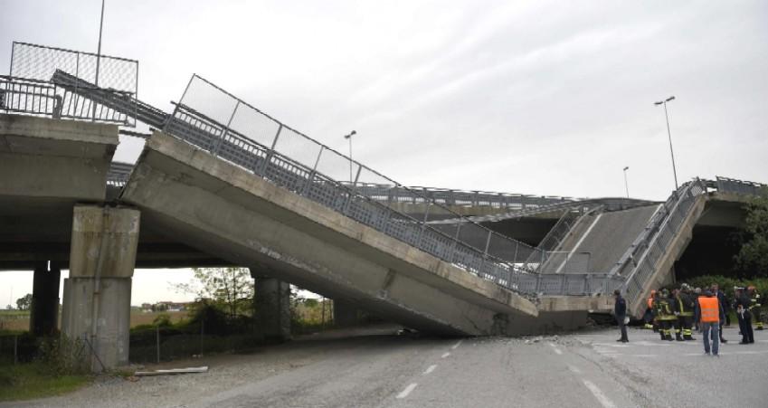 Il viadotto crollato. (fonte foto: Regione Piemonte)