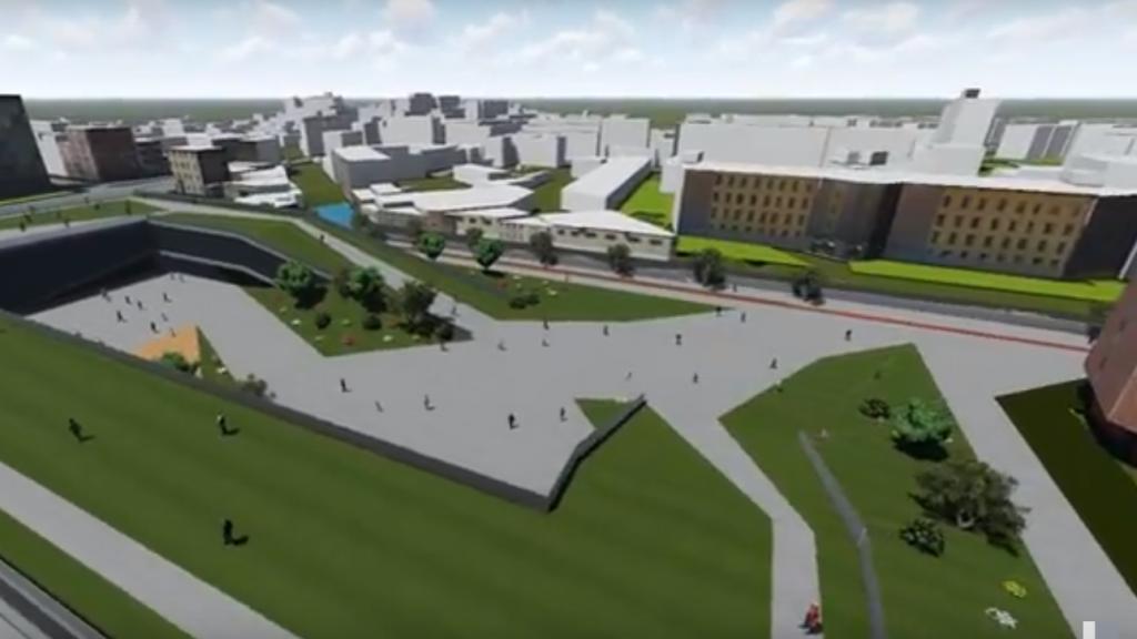 Immagine tratta da un esempio di video realizzato con Lumion 3d da un gruppo di studenti del Politecnico di Milano, per il progetto sull'area dello Smart City Lab che sarà realizzato nel 2018 a Milano, in via Ripamonti 88