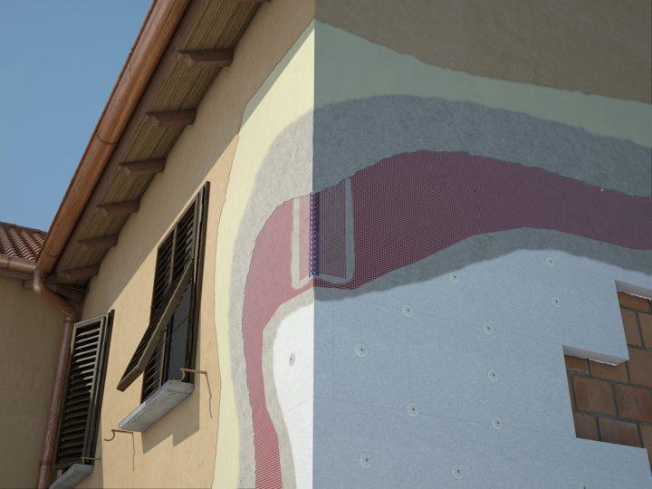 Dettaglio Sistema a Cappotto su facciata