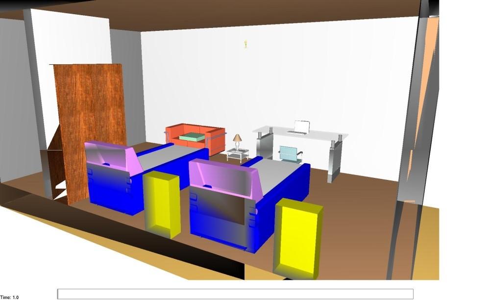 Modello FDS della camera oggetto dell'incendio