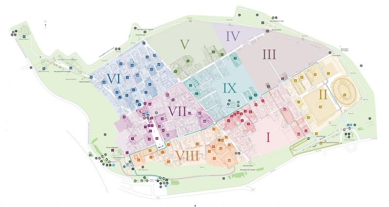 Mappa degli scavi accessibili