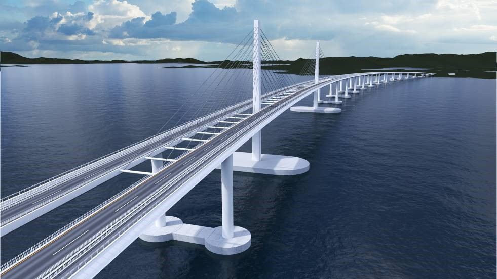 Ipotesi contemplata di ponte galleggiante (Fonte: SVV – Statens Vegvesen)