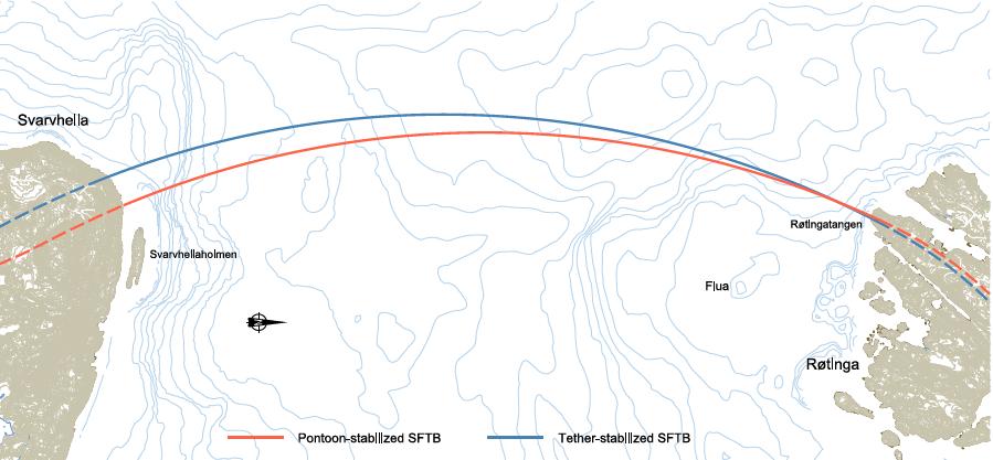 Attraversamento del Bjørnafjord (Fonte: SVV – Statens Vegvesen, Amministrazione pubblica dei trasporti norvegese)