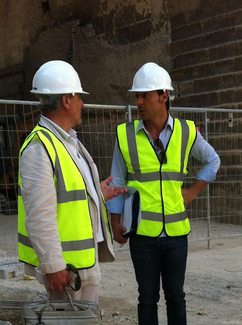 Antonio e Luca De Feo durante il Restauro delle Fortificazioni di Valletta copyright De Feo restauri