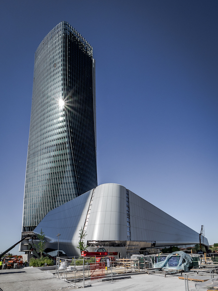 foto del cantiere torre Hadid © CMB-Domenico Cichetti