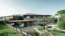 I rivestimenti in alluminio per la copertura sinuosa del resort La Varignana