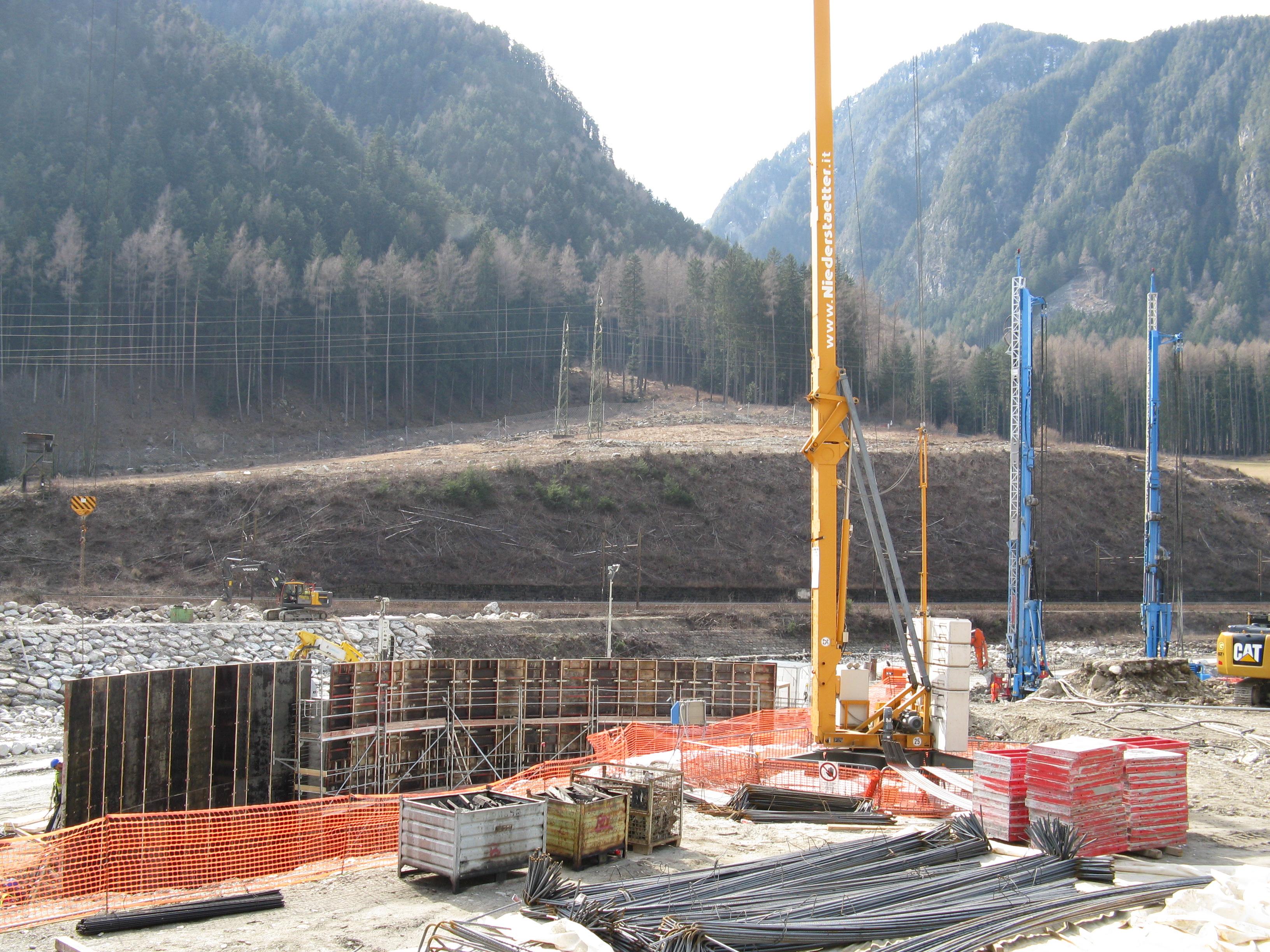 Sottoattraversamento dell'Isarco, immagine dal cantiere