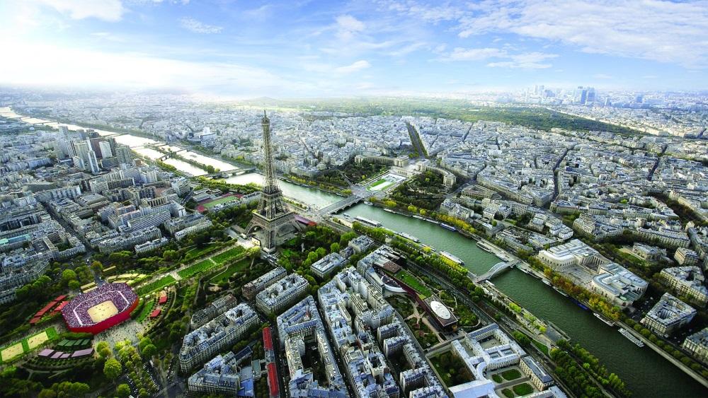 Le Olimpiadi 2024 al di sotto della Tour Eiffel