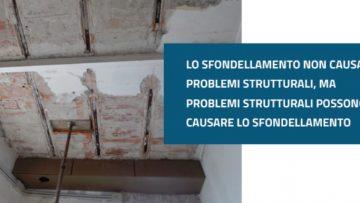 Sfondellamento: quando è sintomo di problemi strutturali del solaio?