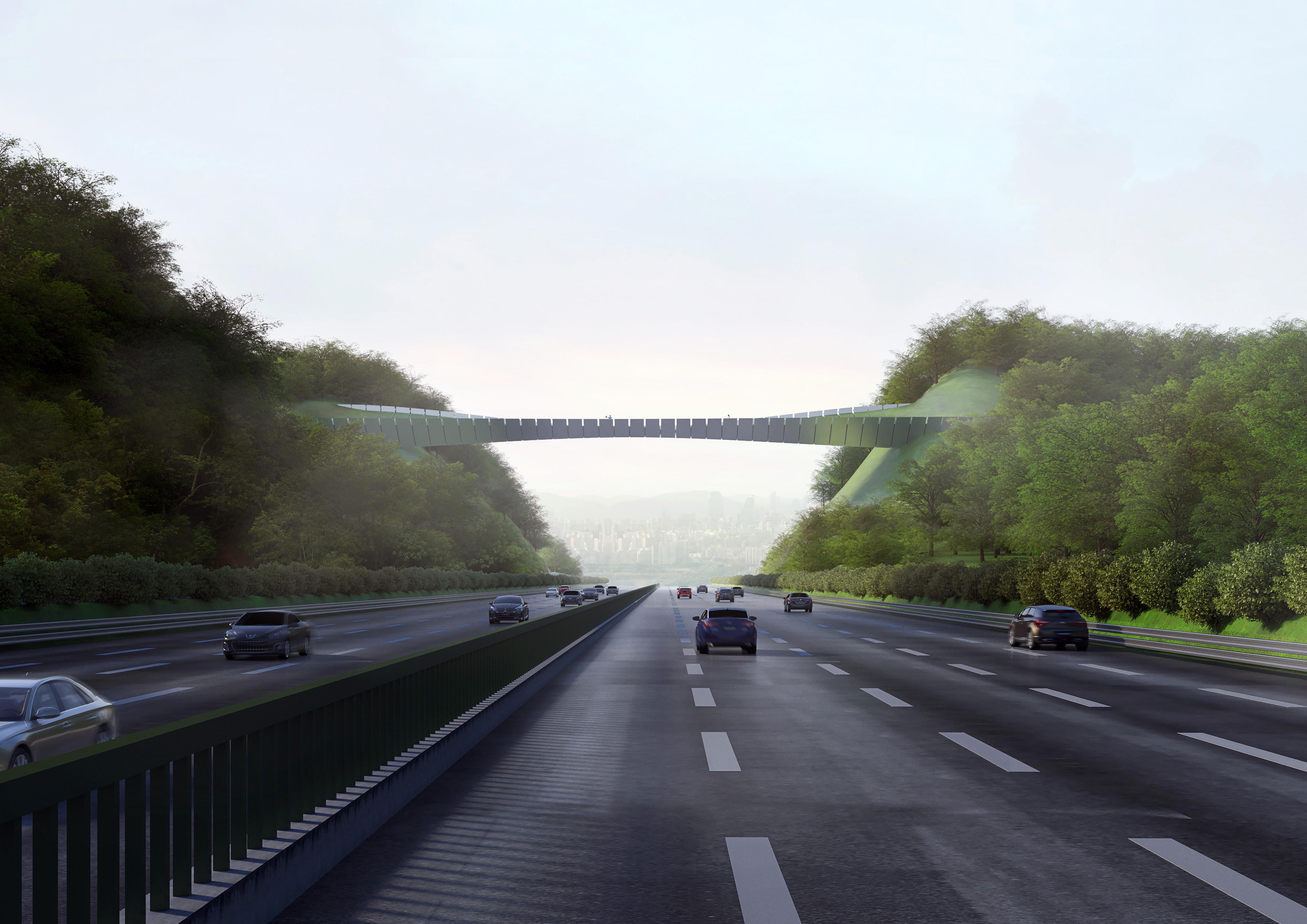 Vista del ponte dall'autostrada Gyeongbu Expressway © Kild
