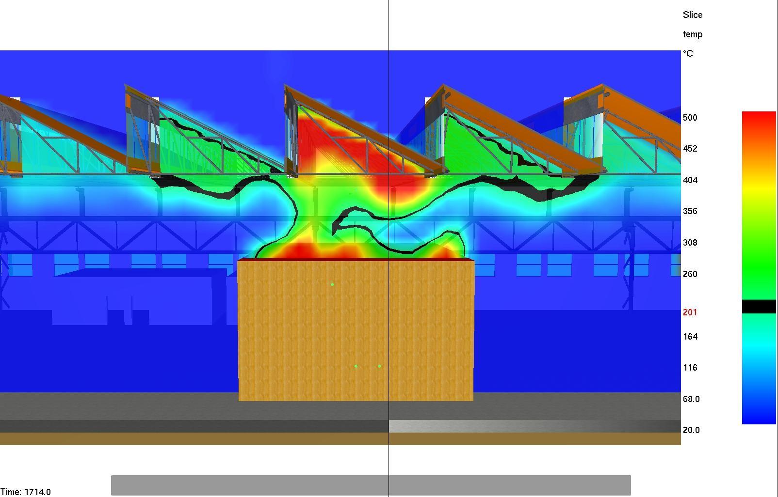 Esempio di simulazione di incendio
