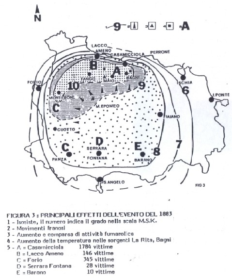 """Immagine tratta da """"Considerazioni sulla struttura e rischio sismico dell'Isola d'Ischia"""" di Monti, Ortolani, Pagliuca (1983)"""