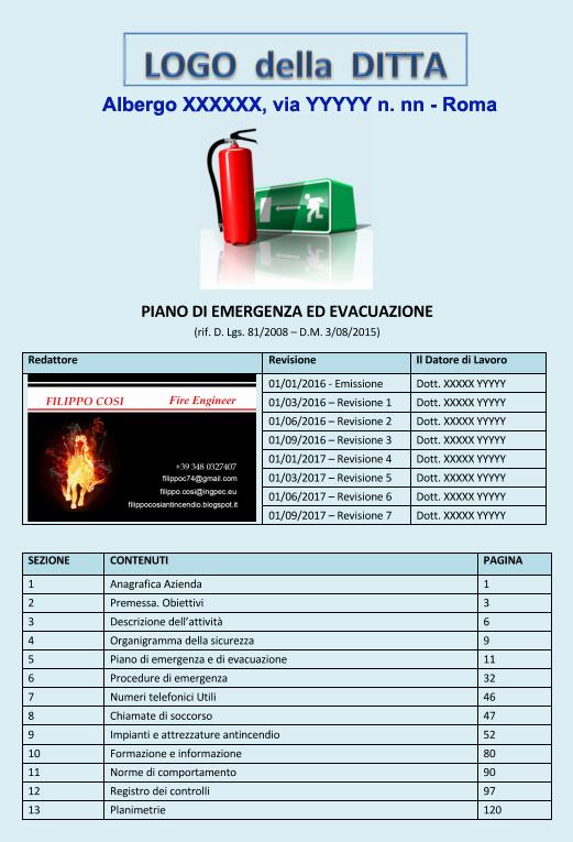 Analisi del piano di evacuazione