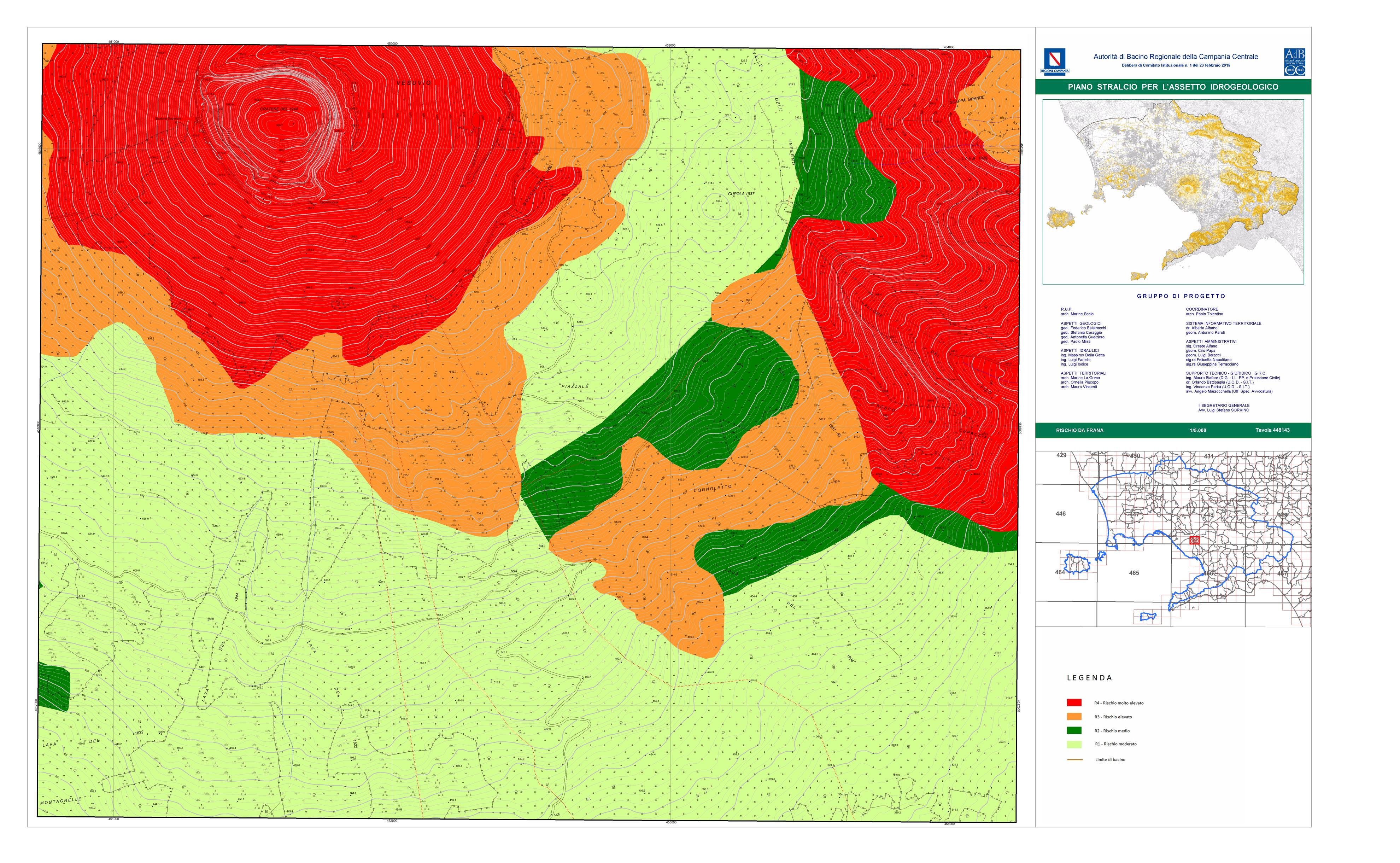 Figura 3 - Mappa rischio frana Tavola 448143