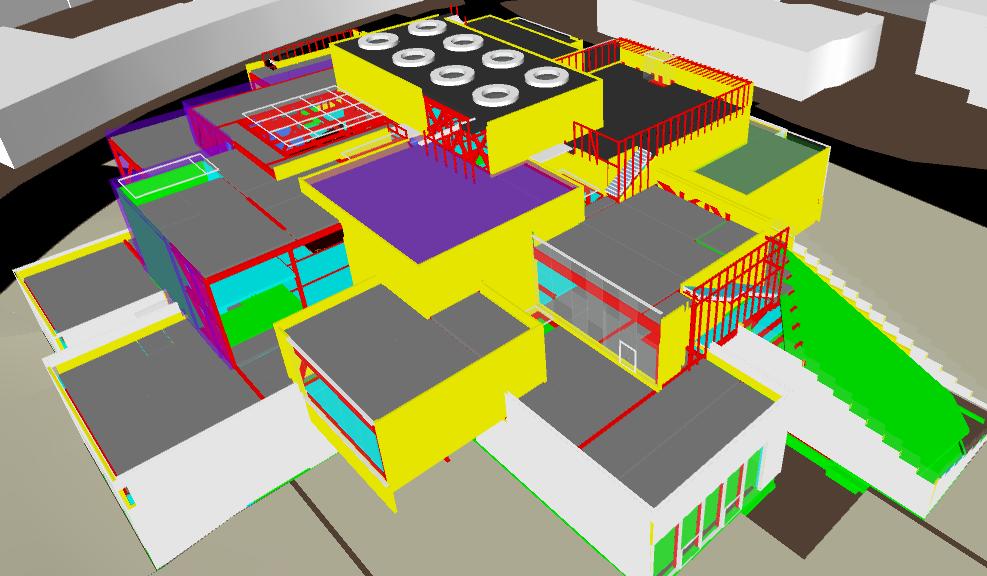 LEGO House - modello Revit - rivestimenti © COWI