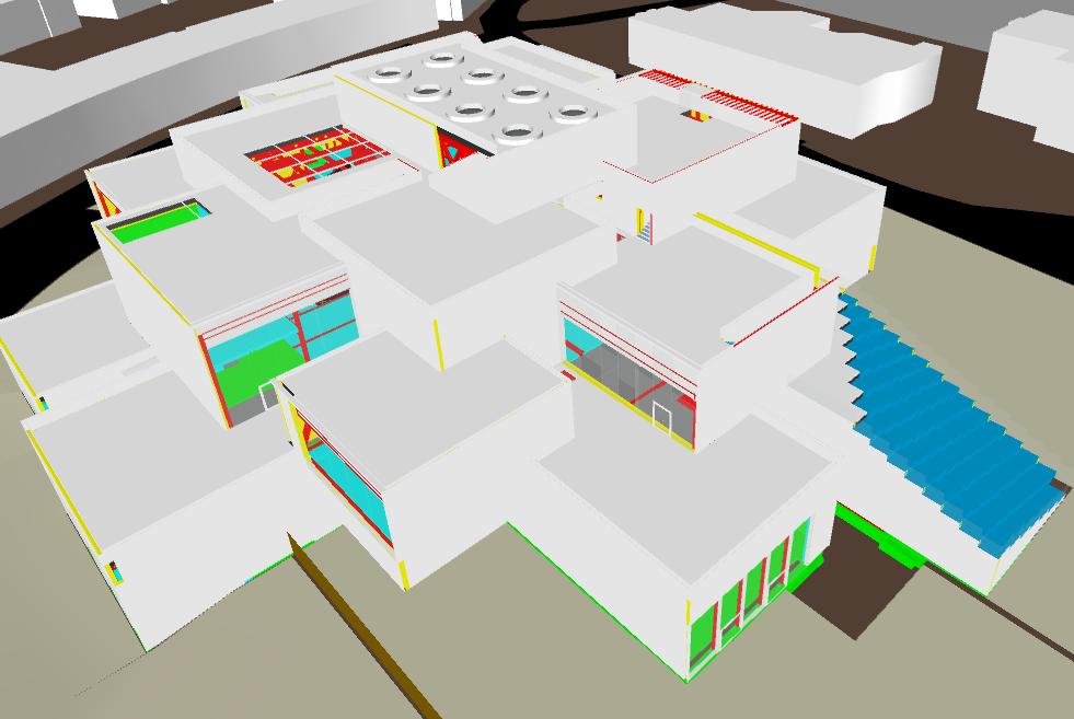 LEGO House - modello Revit - edificio finito © COWI