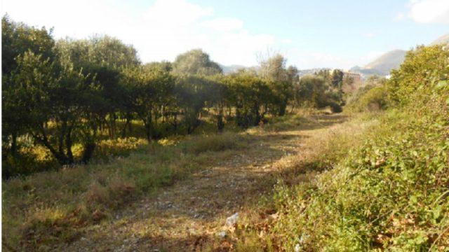 Resti di sedime ferroviario nelle campagne tra Palermo e Monreale