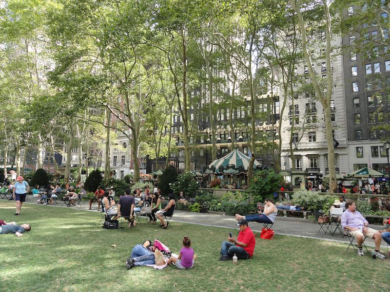 Bryant Park, Green Infrastructure urbana (3,9 ha), Manhattan, NYC, Credits: M. B. Andreucci