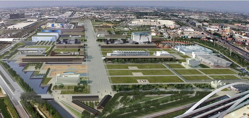 L'area di Expo 2015 cambierà volto e funzioni (fonte www.arexpo.it)